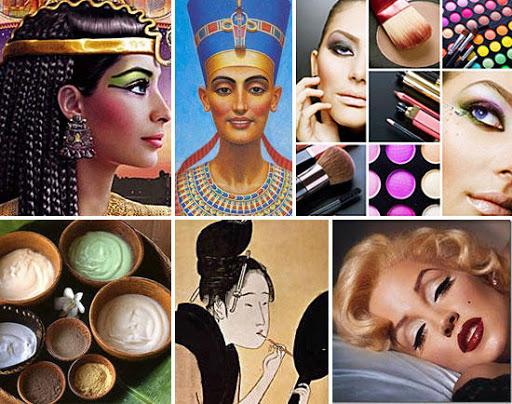 История появления макияжа.